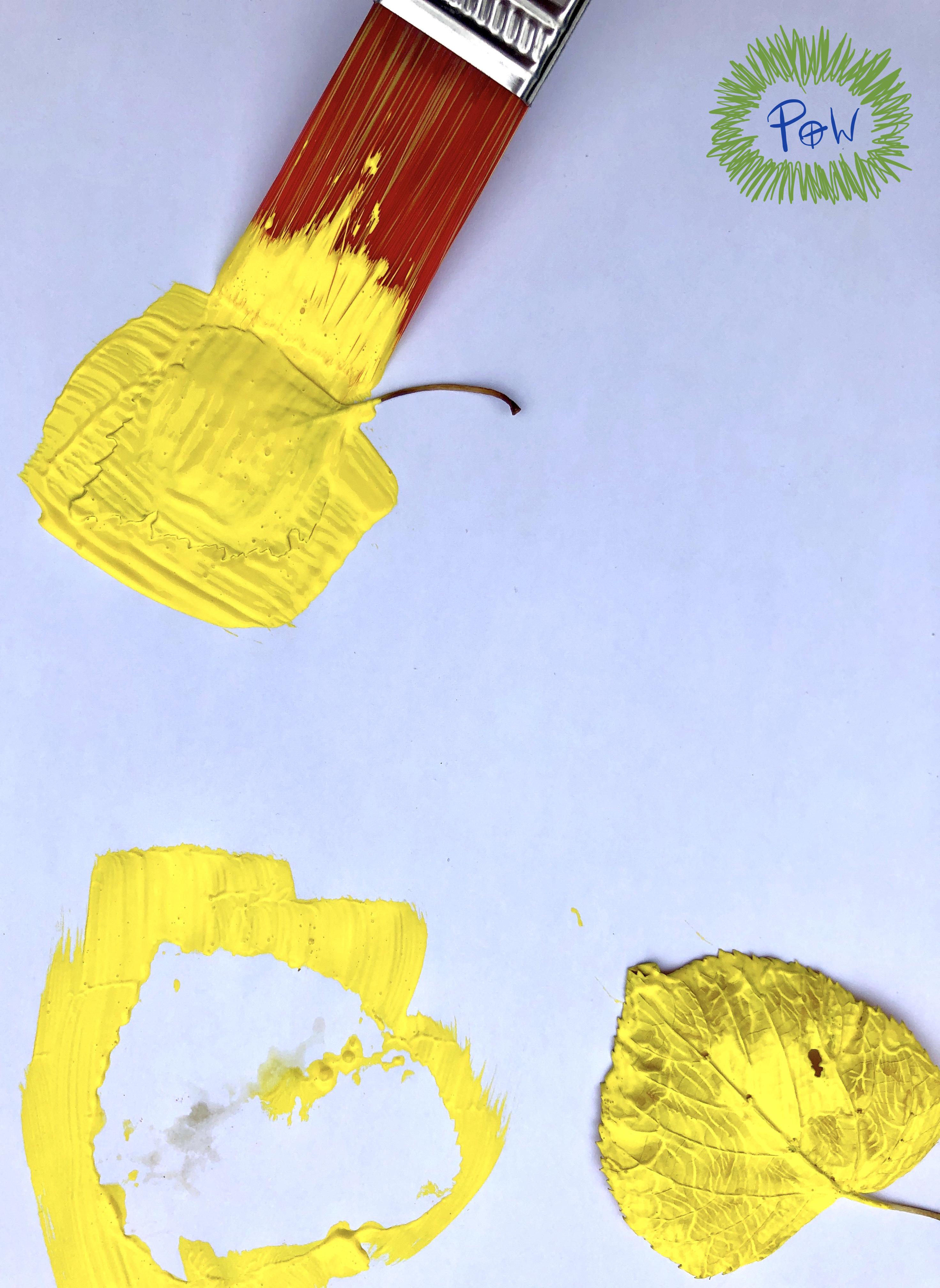 Leaf Painting outline.