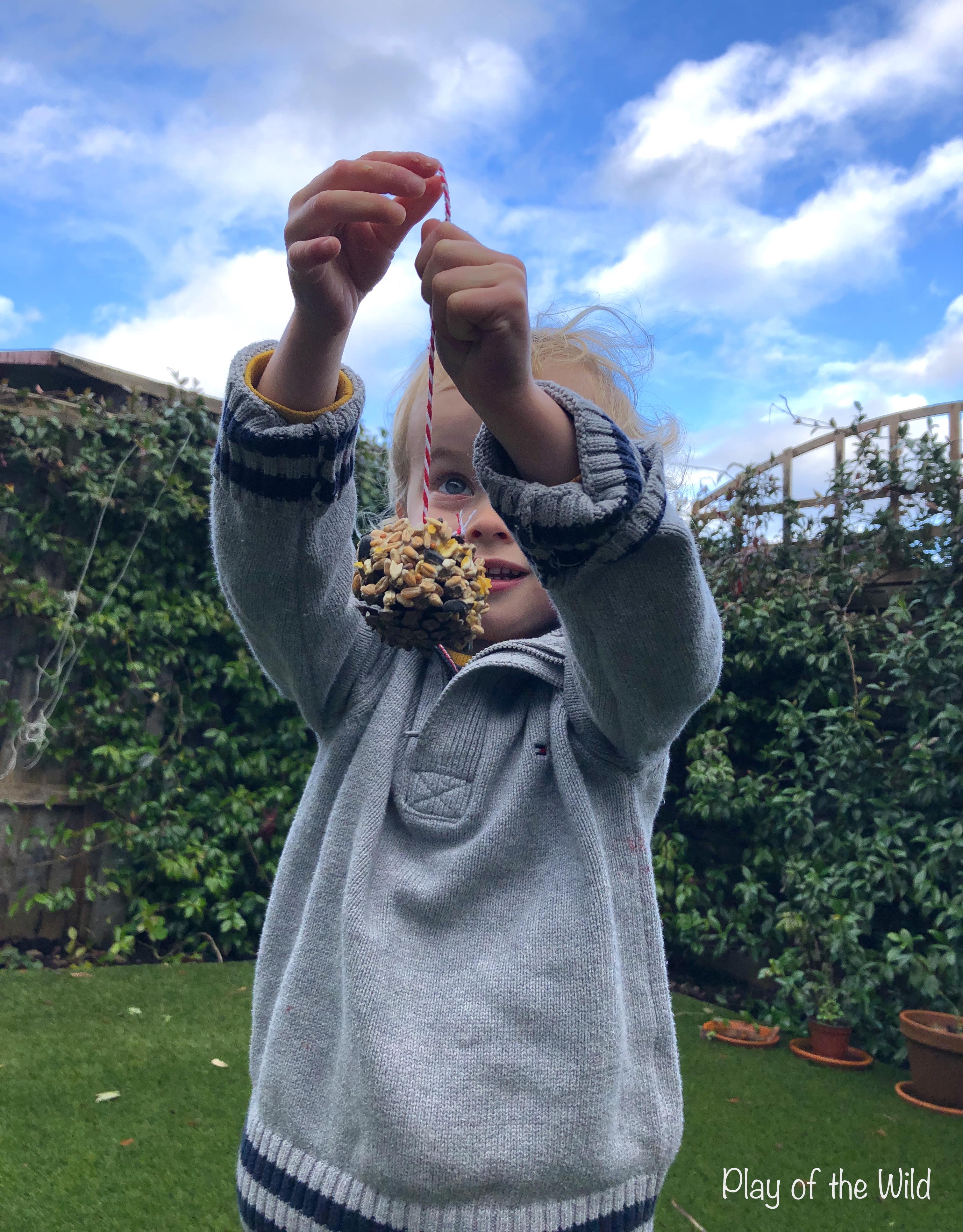 Pinecone Birdfeeders for Outdoor Learning in Preschool