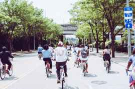 People riding their bicycles.  Ways Kids Can Help the Environment