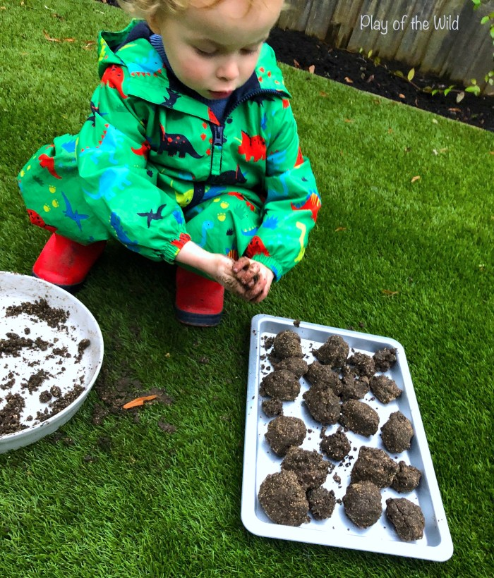 Rolling seed bombs. Sowing & Spreading Wild Flowers with Seed Bombs