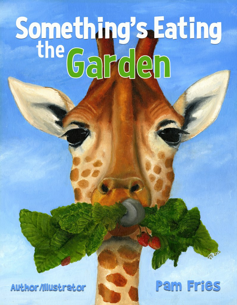 Something's Eating the Garden.  Book review Pam Fries.