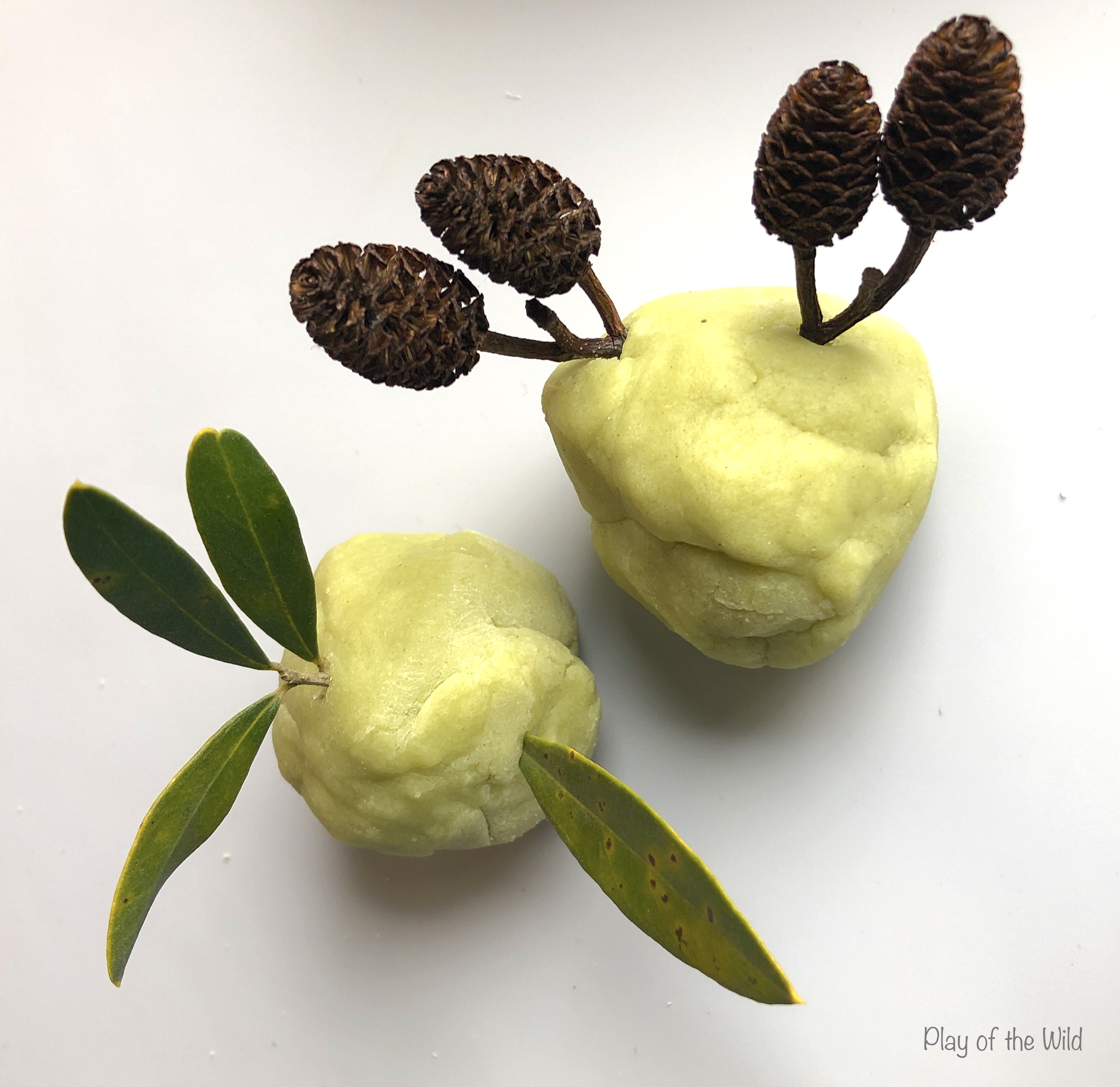 Smelly Playdough Recipe. green tea