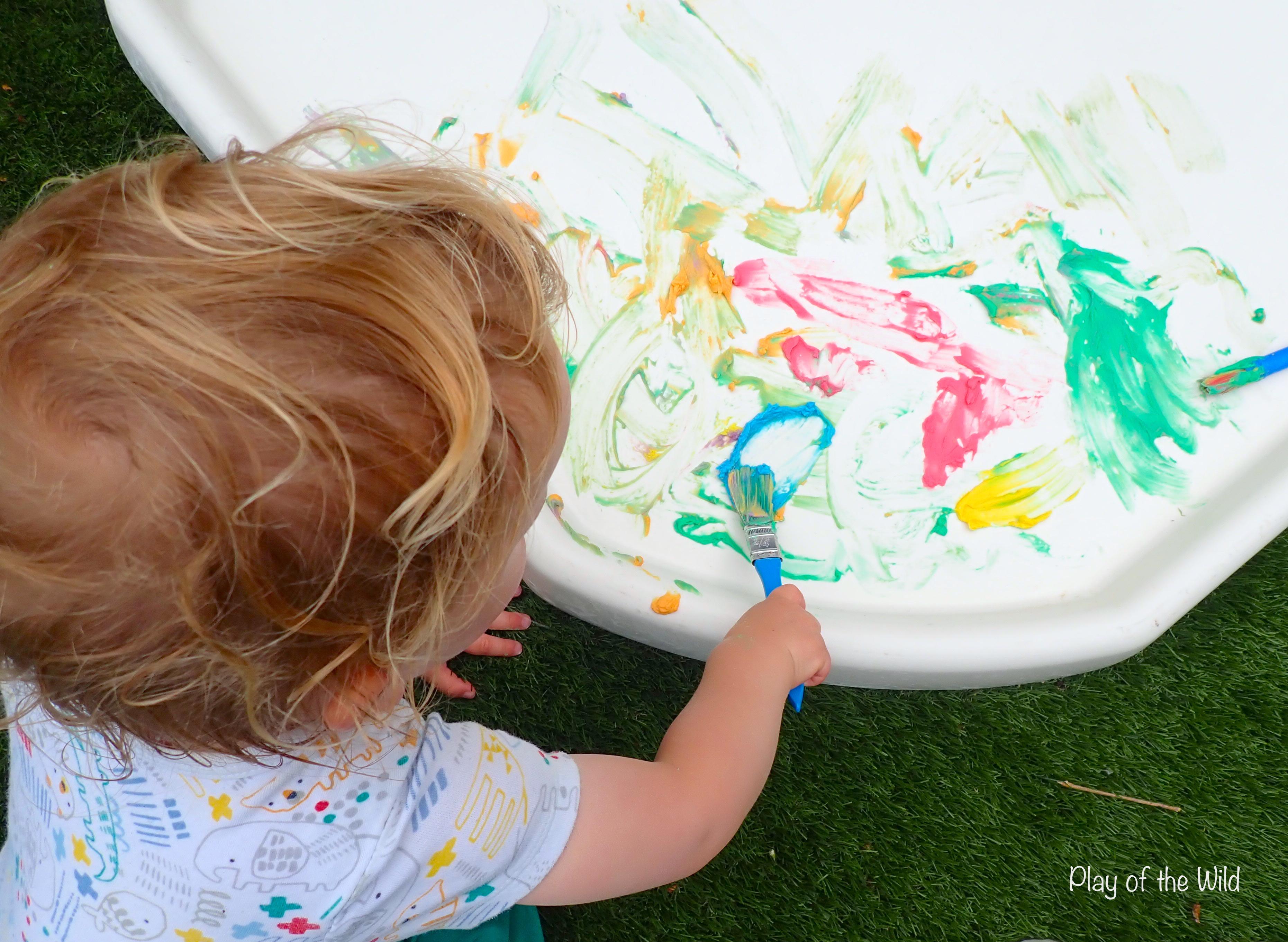 paint brush finger painting mark making