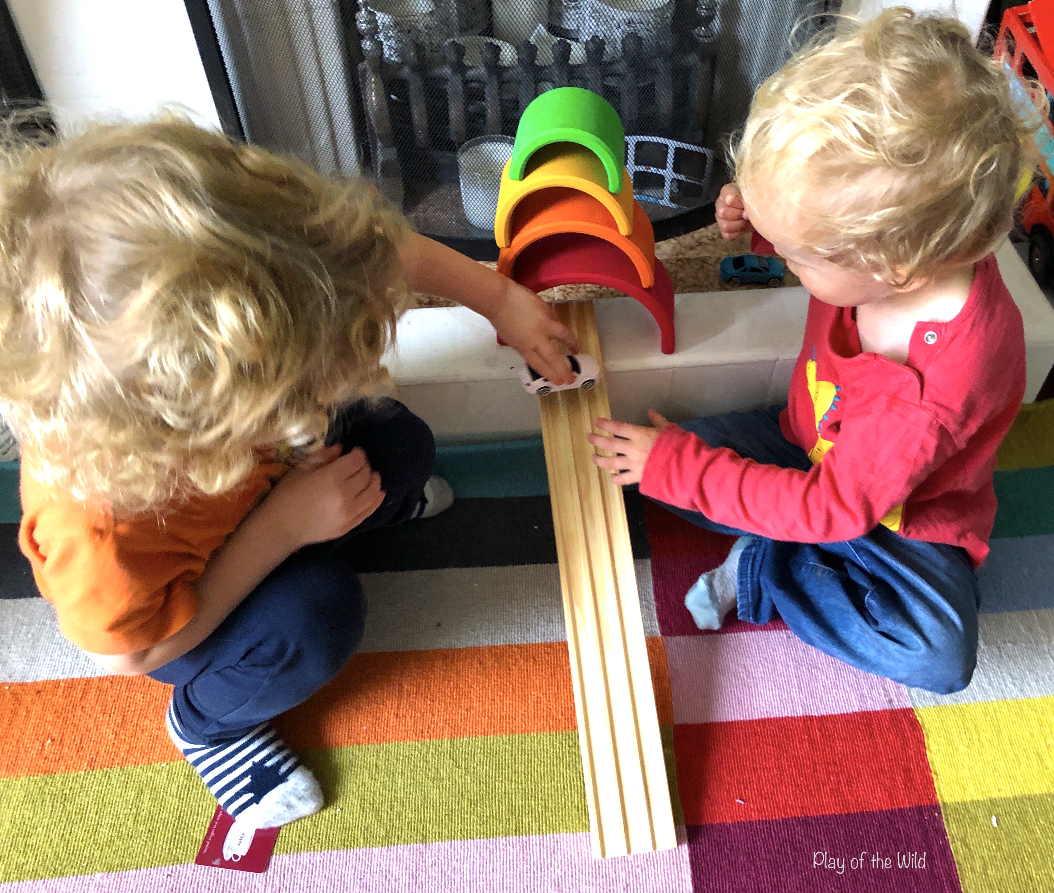 Loose parts play ideas for toddlers