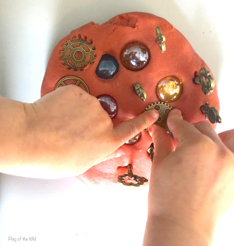 loose parts with playdough. Aromatherapy Playdough Recipe