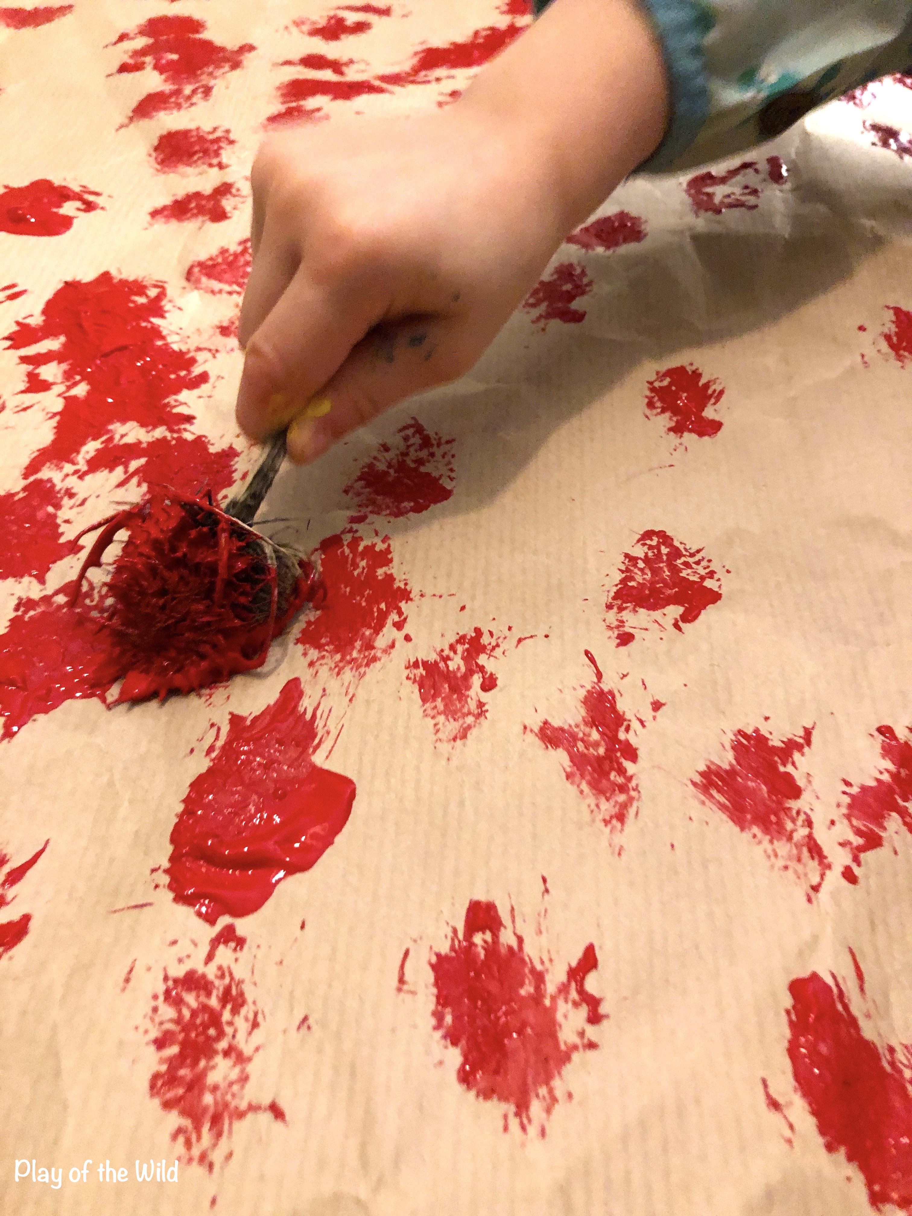 EYFS Mark Making Ideas & Activities that Help Children. natural made paintbrush.