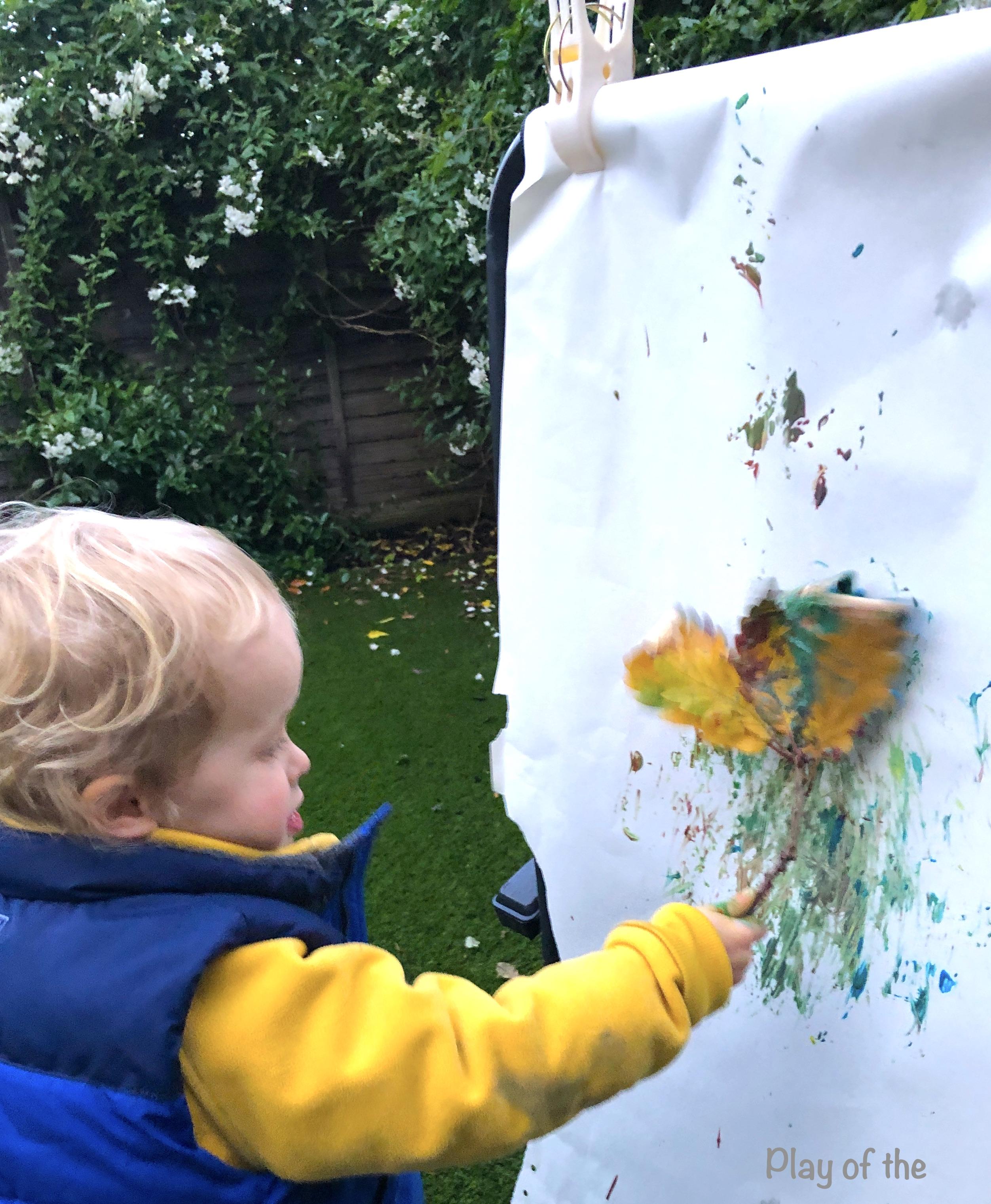 nature paintbrush.  EYFS Mark Making Ideas & Activities that Help Children.