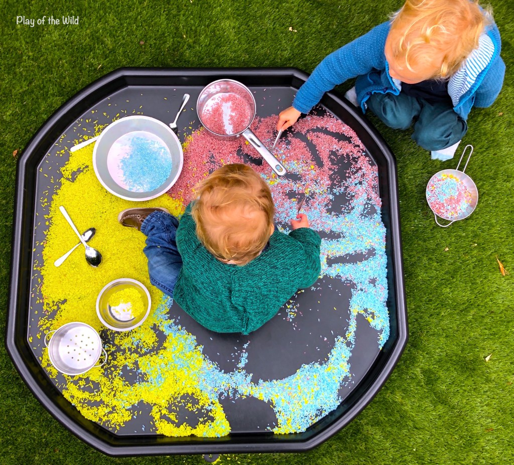 How to Dye Rice for Sensory Bin Play