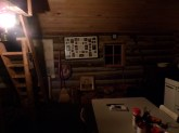 Interior of the cabin at 2 am.