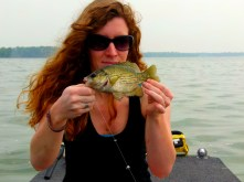 I had the only non-rough fish catch. A tiny rock bass.