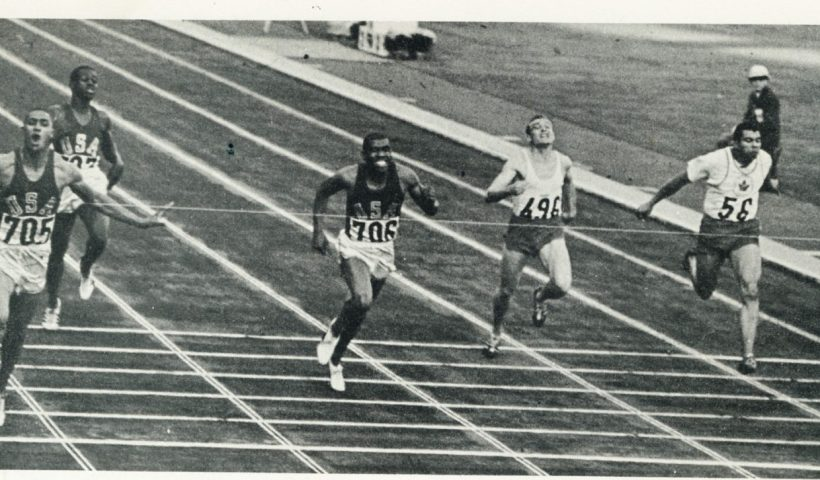 Henry Carr winning one of his two Olympic gold medals in 1964