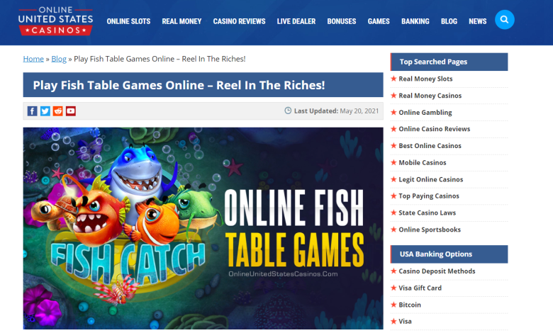 Play Fish Table Games Online
