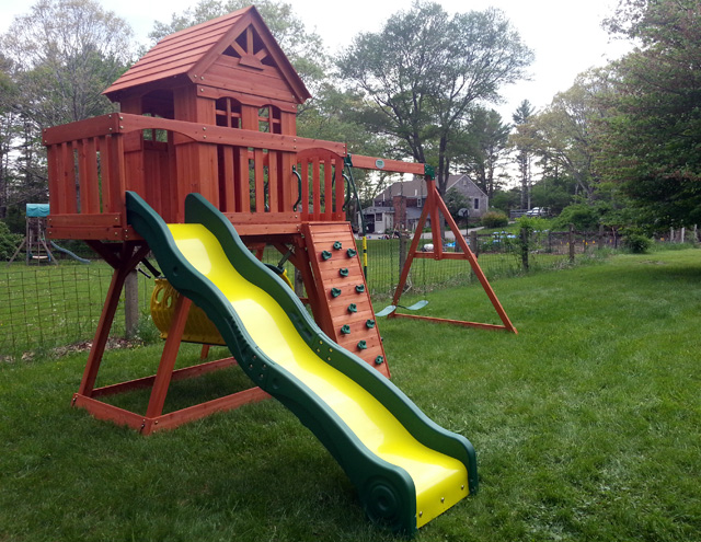 Backyard Discovery Cedar View Swing Set new england playset assembly, plymouth, ma – playset installation