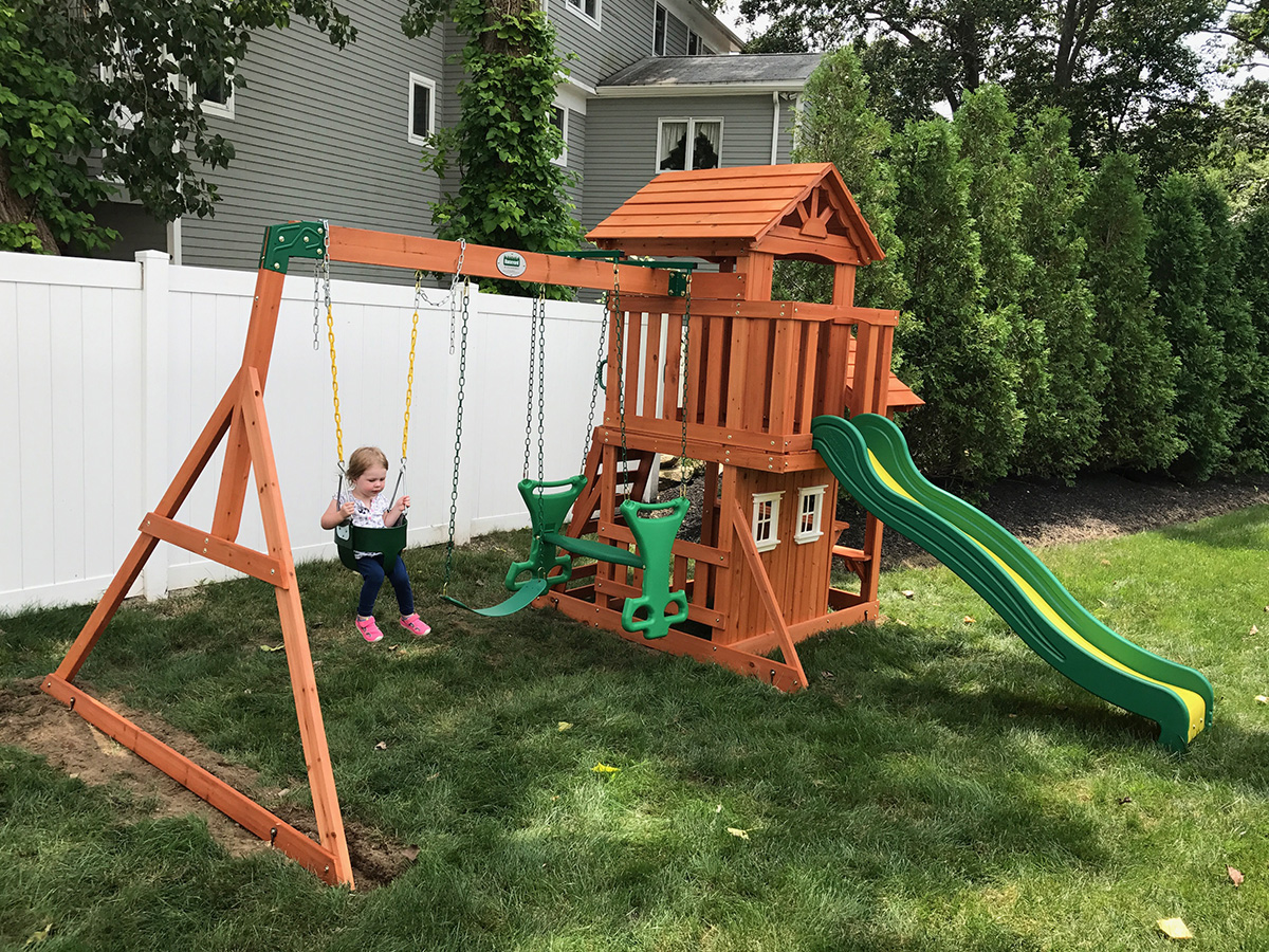 Backyard Discovery Tanglewood Swing Set Installed