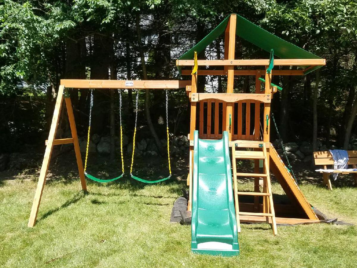 Gorilla Outing III Swing Set Installation