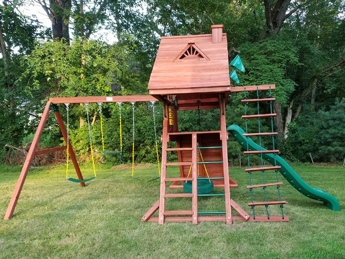We Assembled and Installed this Gorilla Sun Palace Playset in Acton, MA