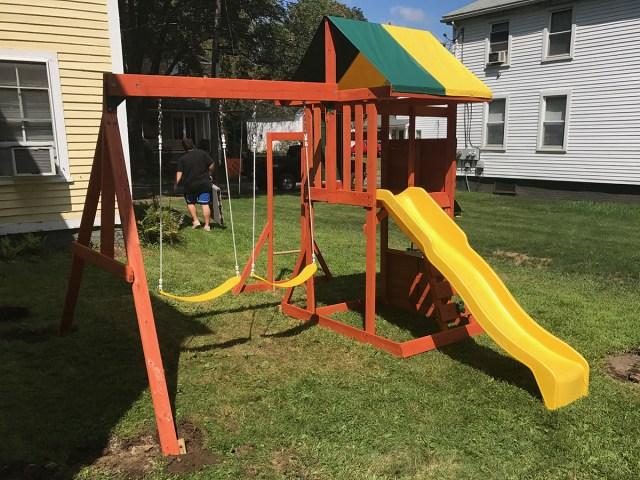 Big Backyard Hazelwood Swing Set Assembly in West Brookfield, MA
