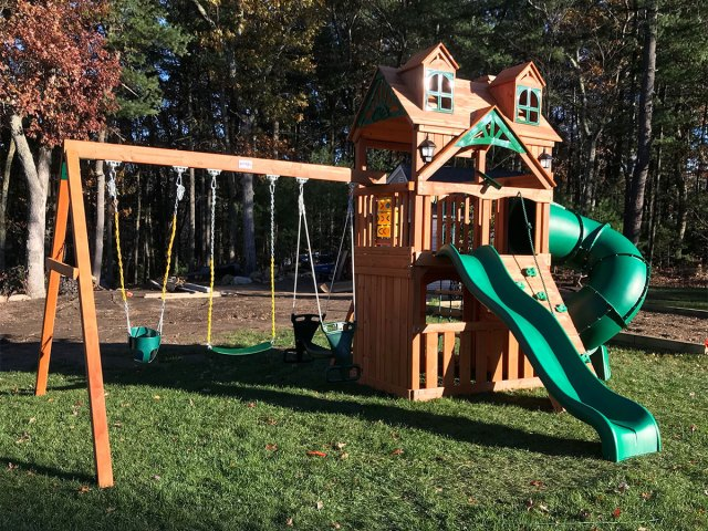 Gorilla Malibu Extreme Clubhouse Playset Assembly in Wrentham, MA