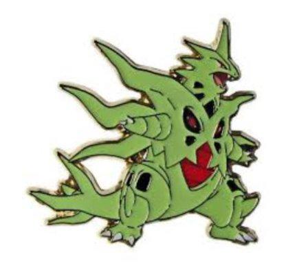 Mega Tyranitar EX Pin Badge Official Metal Pokemon Pin