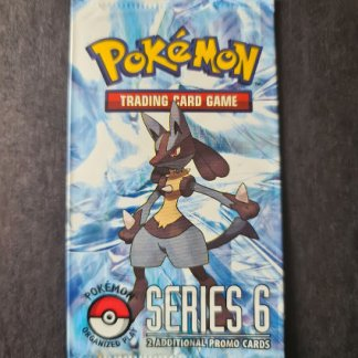Pop Series 6 Sealed Booster Pack Pokemon TCG Trading Card Game Lucario Organised Play
