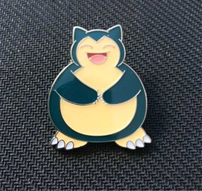 Snorlax Official Metal Pokemon Pin Badge (from the Snorlax Pin Collection)