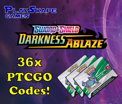 36 x Darkness Ablaze Pack Codes Pokemon Trading Card Game Online PTCGO