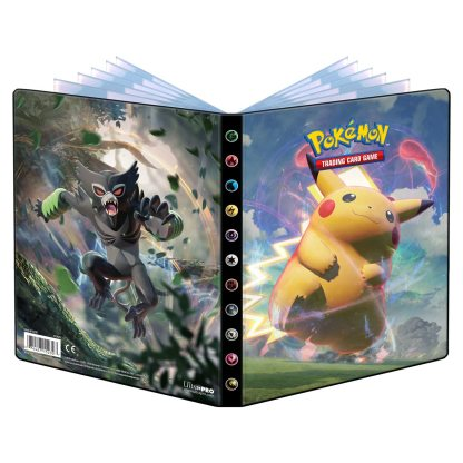 Sword-Shield-Vivid-Voltage-Pikachu-Zarude-Portfolio-Binder-Folder-4-Pocket-Pokemon-TCG