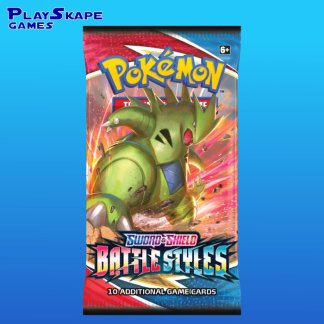 Pokemon-TCG-Cards-Sword-Shield-5-2021-Battle-Styles-Booster-Pack-Tyranitar-Art-Sealed