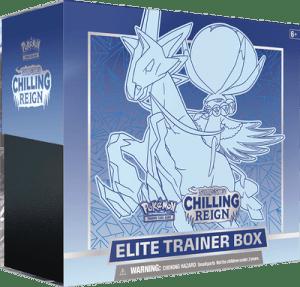 Ice Rider Calyrex VMAX Water ETB Elite Trainer Box ETB Chilling Reign Pokemon Cards