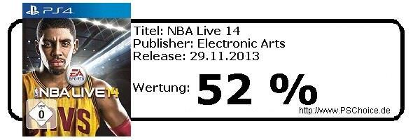 NBA Live 14 für PS4 - Die Wertung von Playstation Choice
