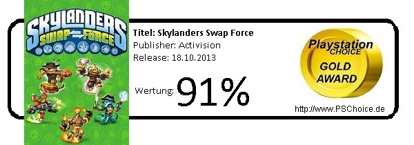 Skylanders Swap Force - Die Wertung von Playstation Choice