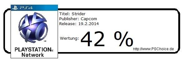 Strider - Die Wertung von Playstation Choice