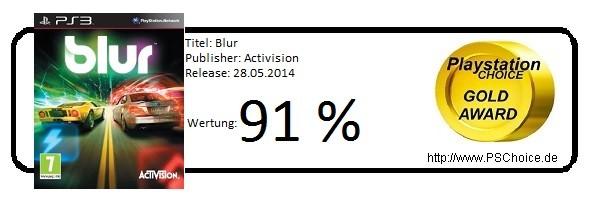 Blur - Die Wertung von Playstation Choice