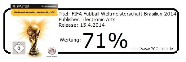 FIFA Fußball Weltmeisterschaft Brasilien 2014 - Die Wertung von Playstation Choice