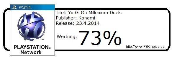 Yu Gi Oh Millenium Duels PS3- Die Wertung von Playstation Choice