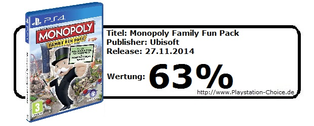 Monopoly Family Fun Pack - Playstation 4 -Die-Wertung-von-Playstation-Choice