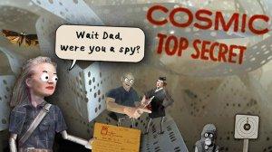 Cosmic Top Secret – egyedi kaland papírból és kartonból