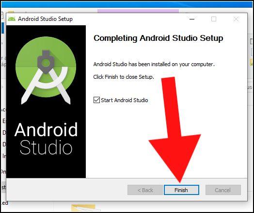 finalizar instalación Android Studio