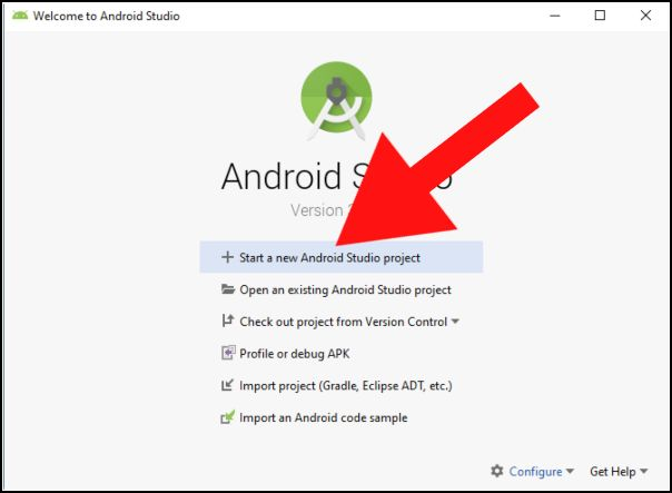 iniciar proyecto Android Studio