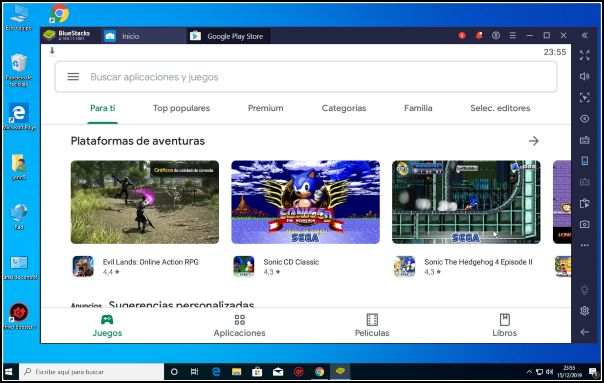 Play Store en Windows 10