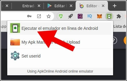 ejecutar emulador online android