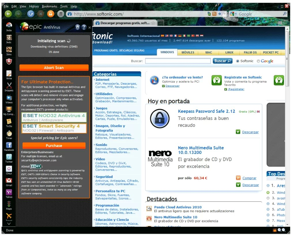 Epic Browser for PC