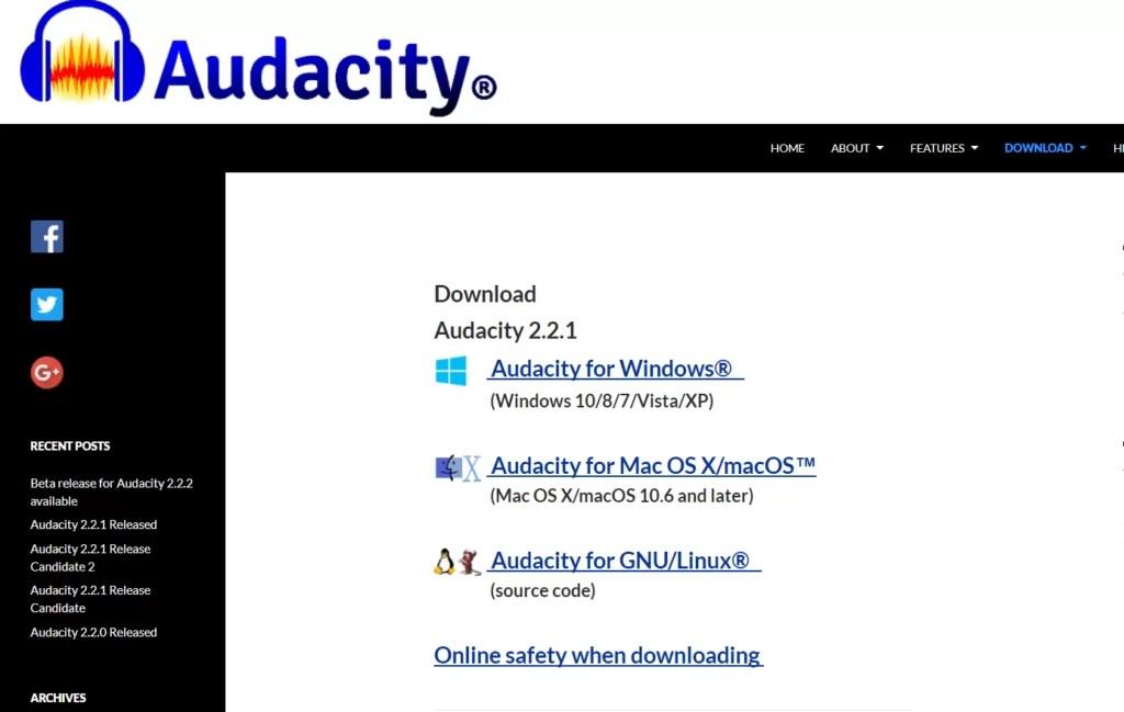 Audacity for Mac
