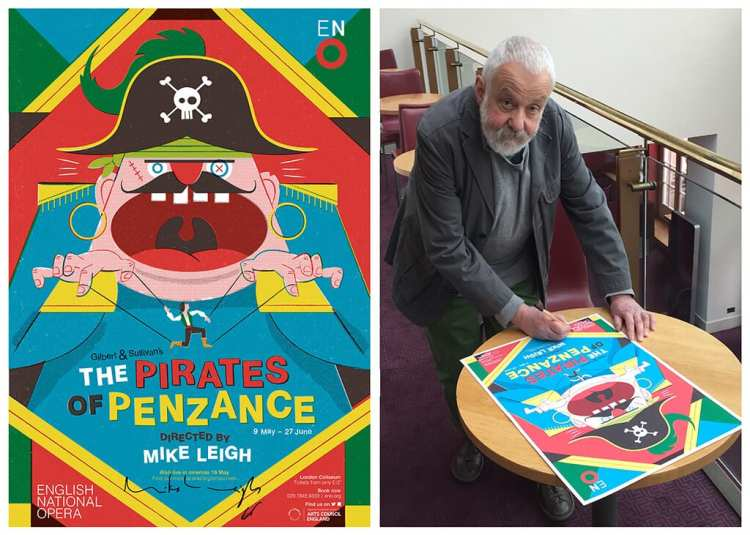 Mike Leigh singing The Pirates of Penzance limited edition posters