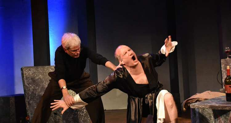SAM & DEDE, OR MY DINNER WITH ANDRE THE GIANT at 59E59 Theaters. Photo by Jay Yamada