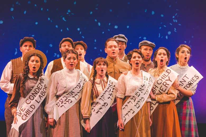 Amerike the Golden Land. National Yiddish Theatre Folksbiene.Photo Victor Nechay