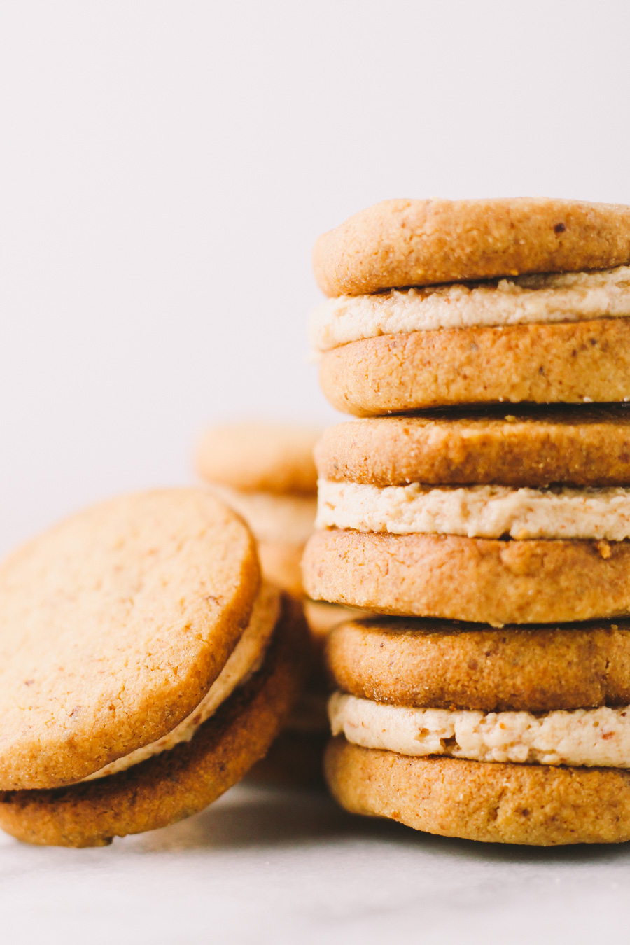 almond butter shortbread cookies | via plays well with butter | a flaky & tender almond butter shortbread that is delicious enough to be enjoyed on their own, but also subtle & versatile enough to be finished with either a dunk of dark chocolate & sprinkle of fleur de sel or sandwiched around a sweet almond butter buttercream (or both!)