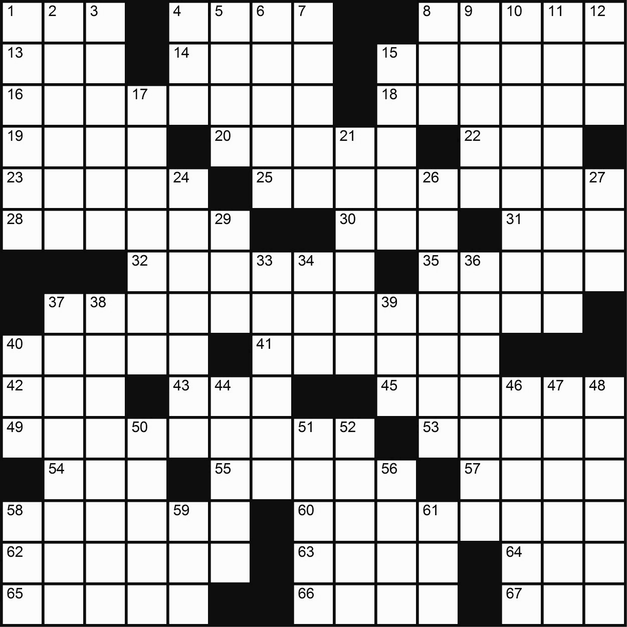 Crossword Puzzle Blank Crossword Puzzle Gallery | Jymba printable ...