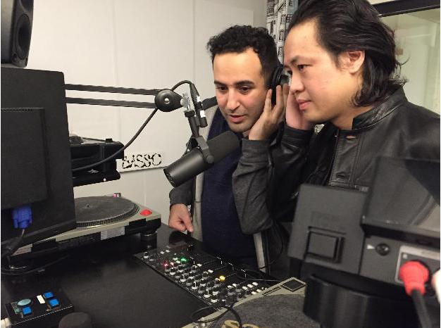 Frank and Sheldon sharing the mic at Basso Radio. Helsinki, Finland