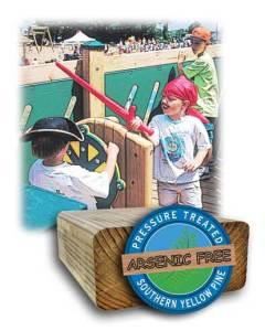 wood playgrounds safe for children